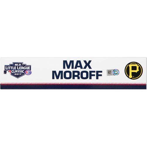 Photo of Pittsburgh Pirates Game-Used Locker Name Plate, Max Moroff #62