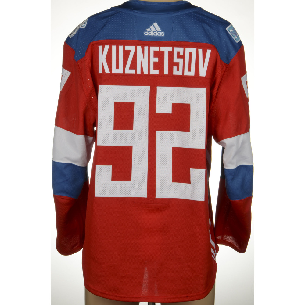 Evgeny Kuznetsov Washington Capitals Game-Worn 2016 World Cup of Hockey Team Russia Jersey, Worn Against Team Finalnd On September 22nd