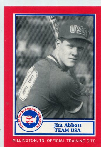 Photo of 1990 Pan Am Team USA Red BDK #25 Jim Abbott