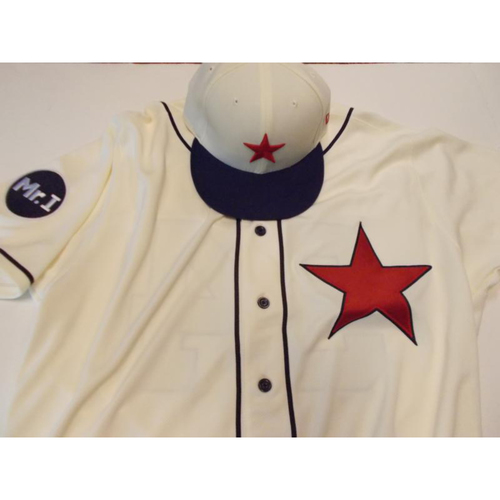 Photo of Game-Used Detroit Stars Jersey and Cap: Alex Avila