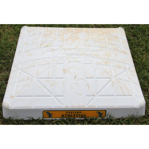 Photo of Game-Used 1st Base (inn 4-6) vs New York Yankees