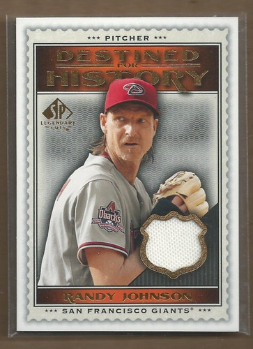 Photo of 2009 SP Legendary Cuts Destined for History Memorabilia #RJ Randy Johnson