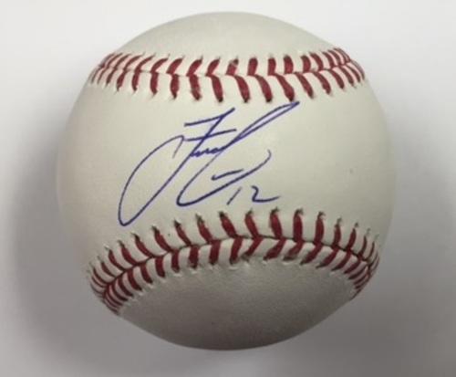 Photo of Francisco Lindor Autographed Baseball