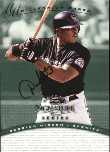Photo of 1997 Donruss Signature Autographs Millennium #45 Derrick Gibson