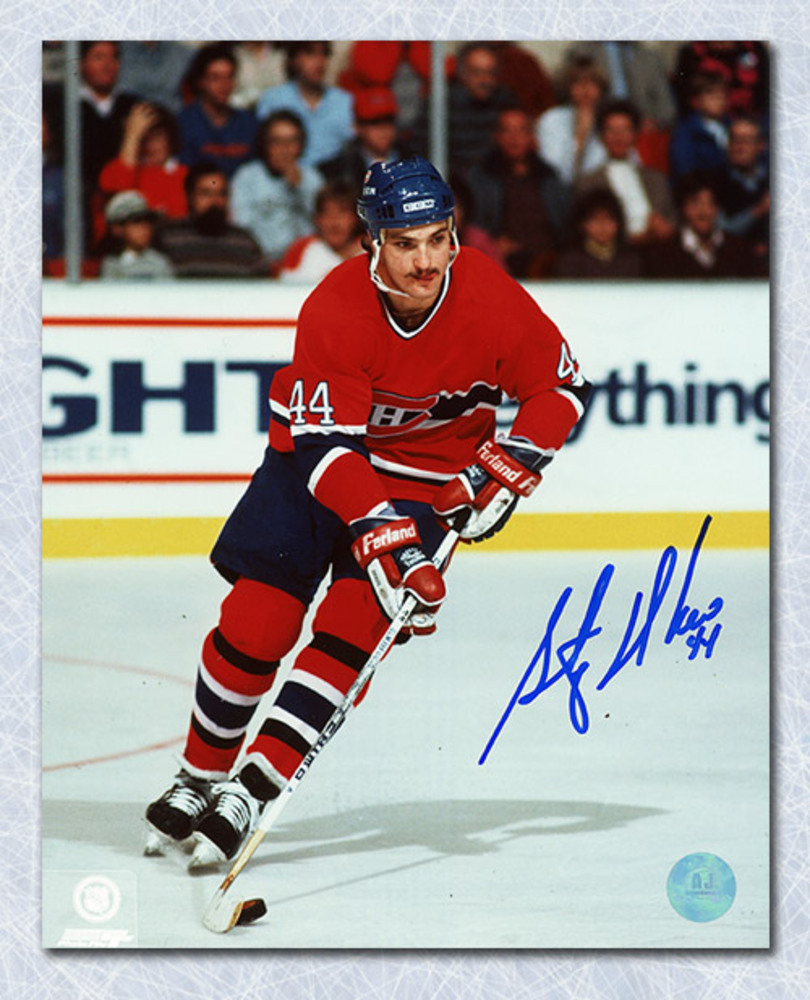 Stephane Richer Montreal Canadiens Autographed 8x10 Photo