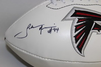 FALCONS - JONATHAN MASSAQUOI SIGNED PANEL BALL W/ FALCONS LOGO