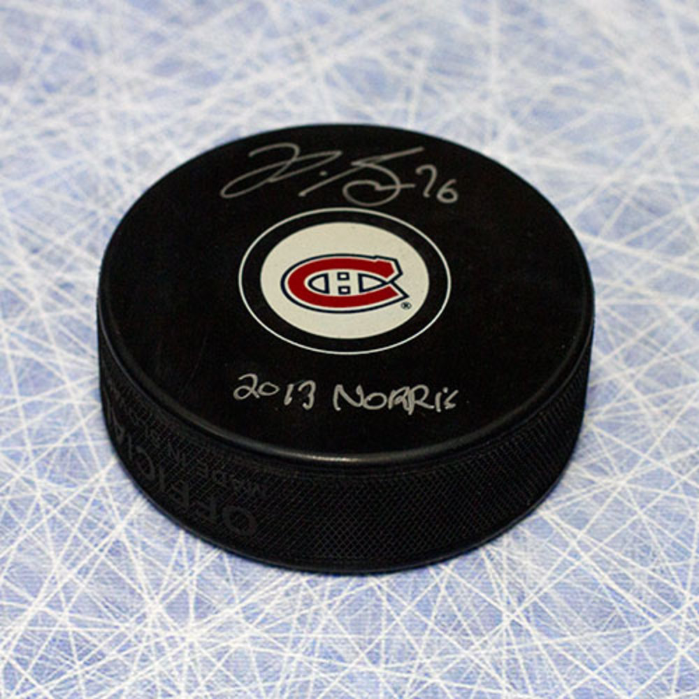 P.K. Subban Montreal Canadiens Autographed Hockey Puck w/ 2013 Norris Note