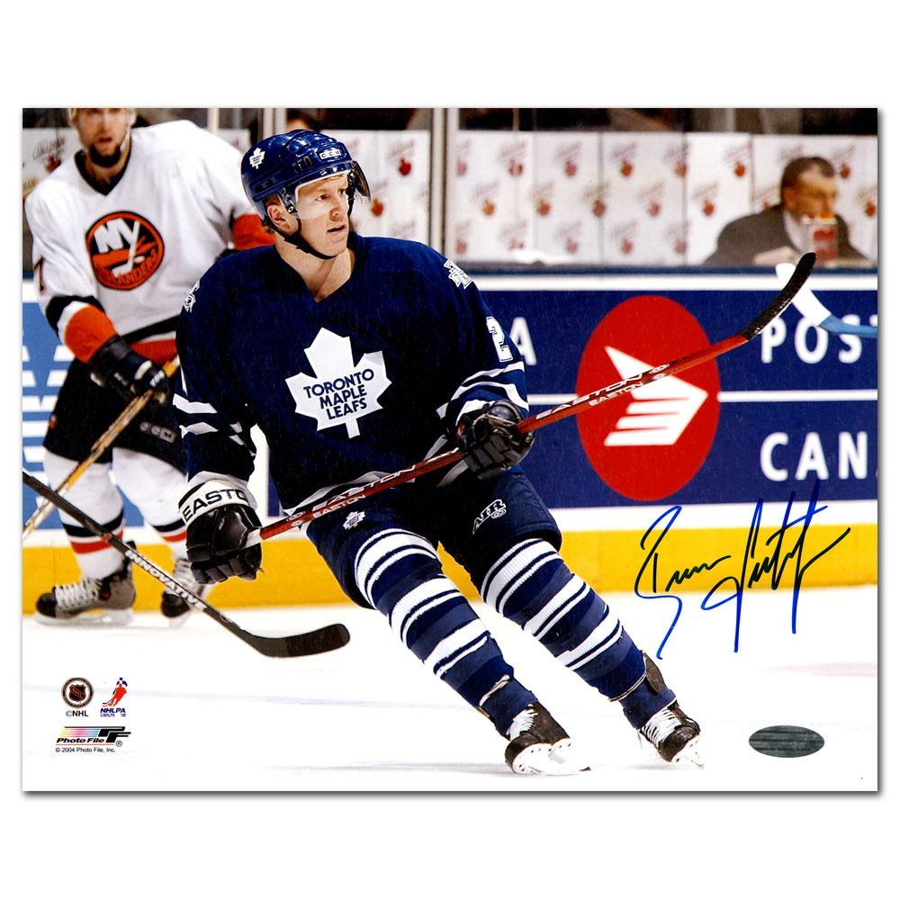 Brian Leetch Autographed Toronto Maple Leafs 8X10 Photo