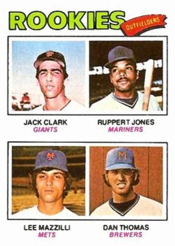 Photo of 1977 Topps #488 Rookie Outfielders/Jack Clark RC/Ruppert Jones RC/Lee Mazzilli RC/Dan Thomas RC
