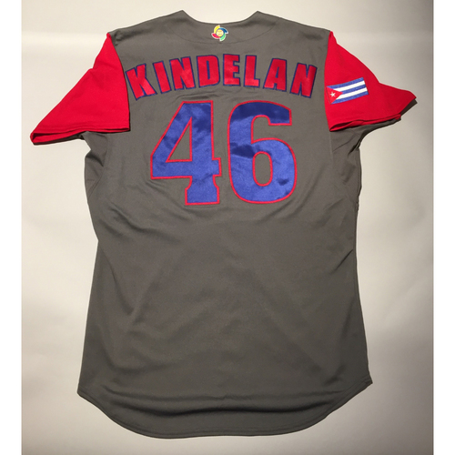 Photo of 2017 WBC: Cuba Game-Used Road Jersey, Kindelan #46