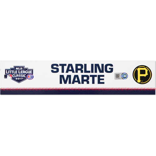 Photo of Pittsburgh Pirates Game-Used Locker Name Plate, Starling Marte #6