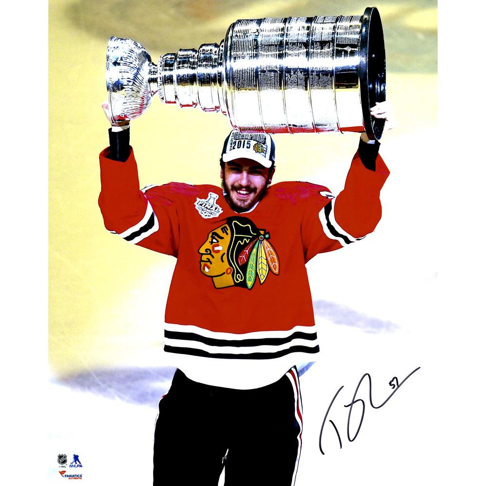 Trevor van Riemsdyk Chicago Blackhawks 2015 Stanley Cup Champions Autographed 16