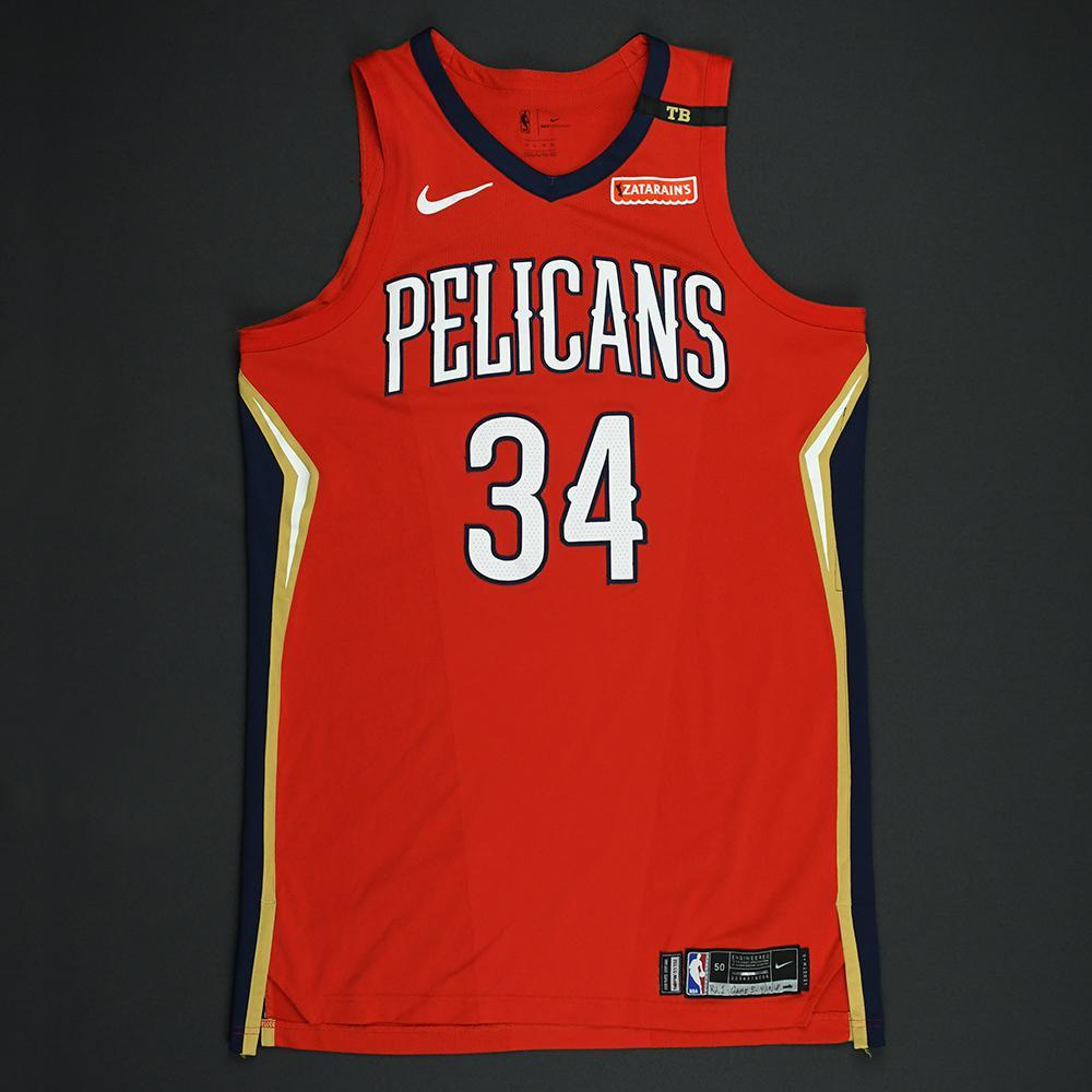 DeAndre Liggins - New Orleans Pelicans - 2018 NBA Playoffs Game-Worn Statement Jersey