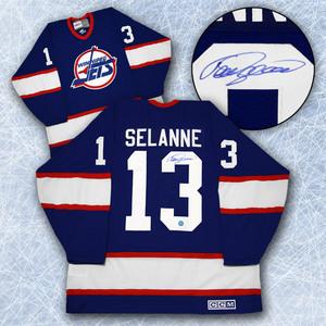 Teemu Selanne Winnipeg Jets Autographed Retro CCM Hockey Jersey