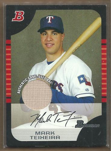 Photo of 2005 Bowman Relics #43 Mark Teixeira Bat