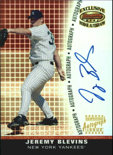 Photo of 2001 Bowman's Best Exclusive Autographs #BBEAJB Jeremy Blevins