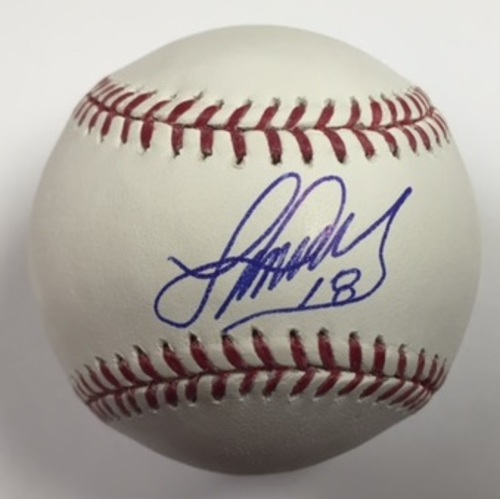 Photo of Luis Valbuena Autographed Baseball