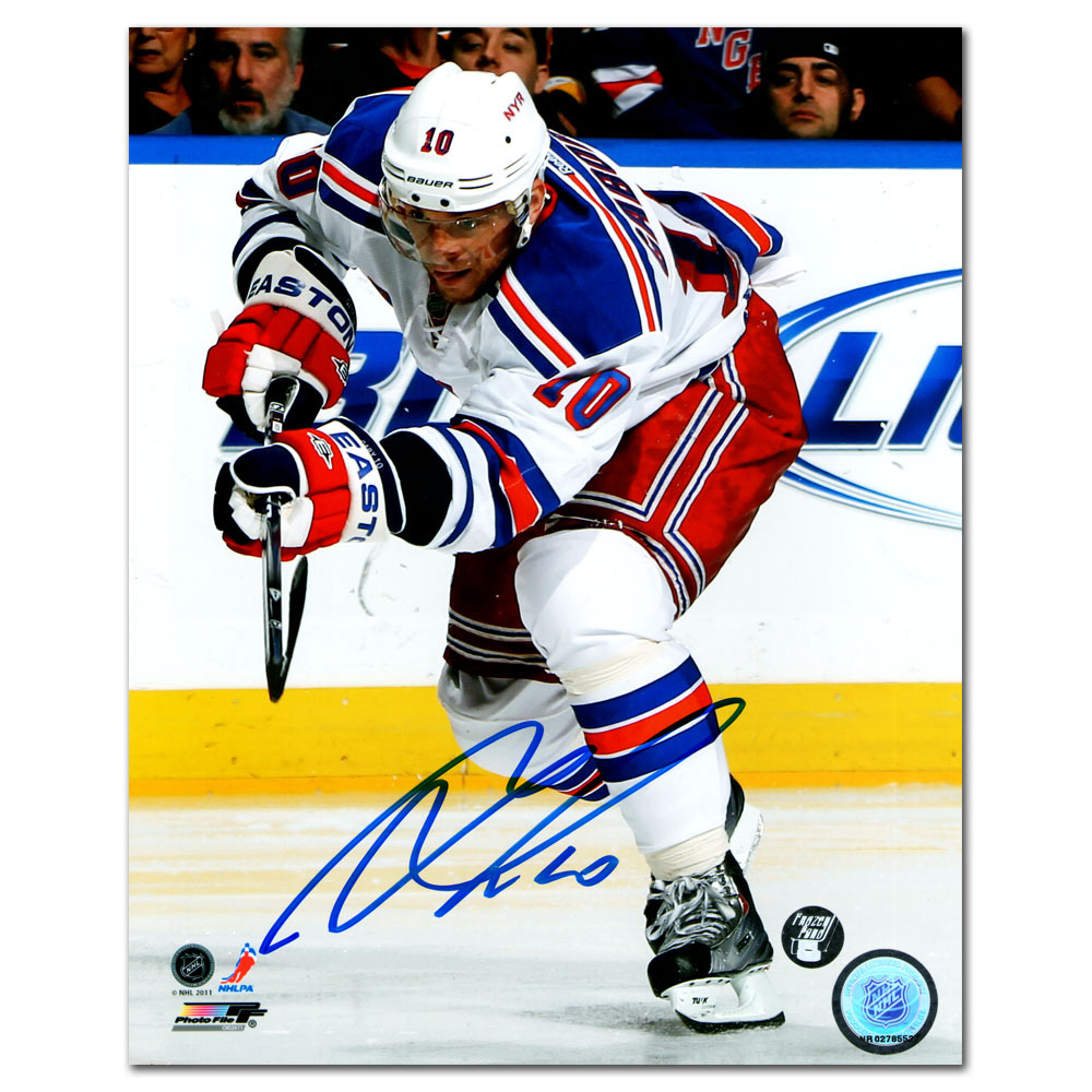 Marian Gaborik Autographed New York Rangers 8X10 Photo (Los Angeles Kings)