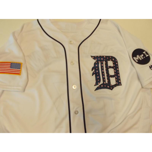 Photo of Game-Used Stars and Stripes Jersey: Omar Vizquel