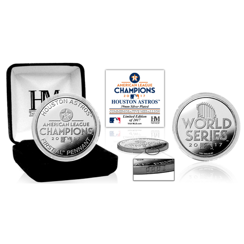 Houston Astros 2017 AL Champions Silver Mint Coin