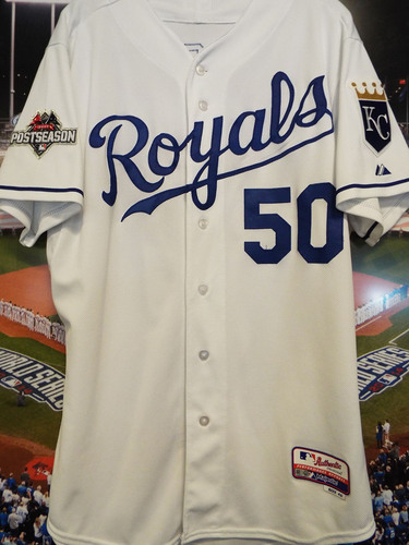 Photo of Club Issued Miguel Almonte White 2015 Postseason Jersey
