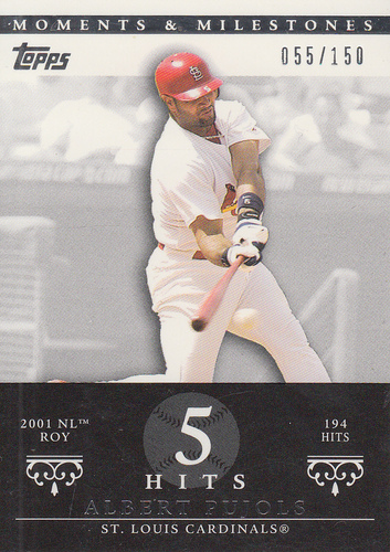 Photo of 2007 Topps Moments and Milestones #3-5 Albert Pujols/Hit 5
