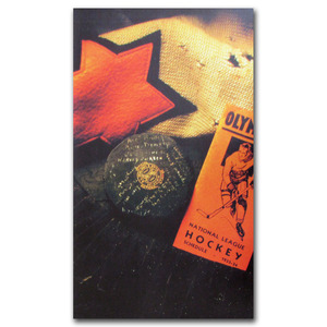 Classic Hockey Artifacts Poster Once on Display at the Hockey Hall of Fame