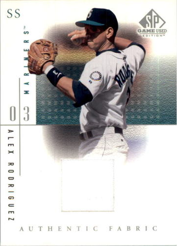 Photo of 2001 SP Game Used Edition Authentic Fabric #ARM Alex Rodriguez Mariners DP