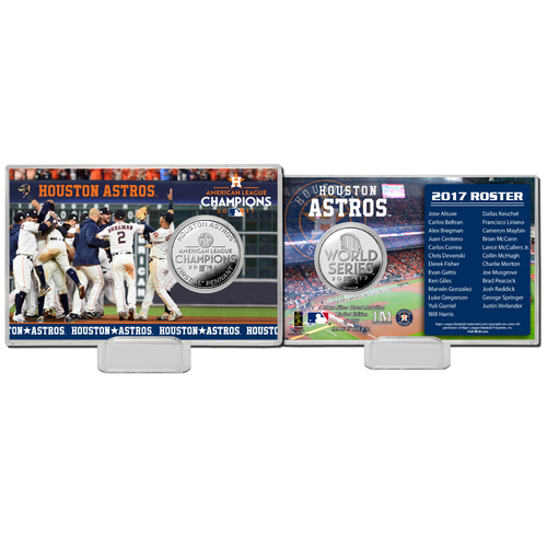 Photo of Houston Astros 2017 AL Champions Silver Coin Card