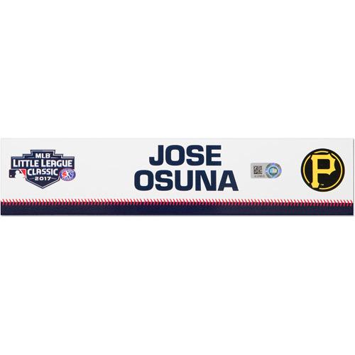 Photo of Pittsburgh Pirates Game-Used Locker Name Plate, Jose Osuna #36