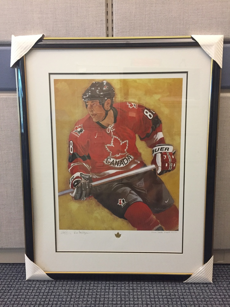 Limited edition, autographed Eric Lindros print for Easter Seals Ontario