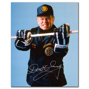 Don Cherry Boston Bruins TOUGH GUY Autographed 8x10