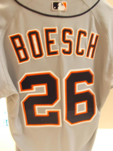 Photo of Game-Used Brennan Boesch Road Jersey