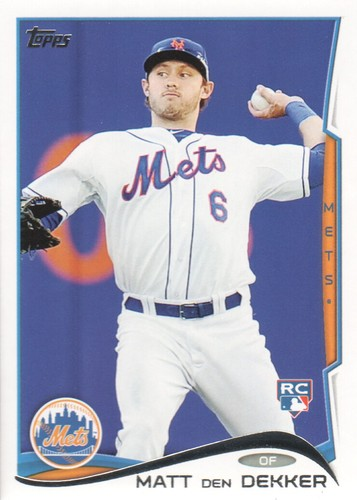 Photo of 2014 Topps #510 Matt den Dekker RC