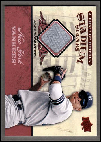Photo of 2008 UD A Piece of History Stadium Scenes Jersey Red #SS38 Alex Rodriguez