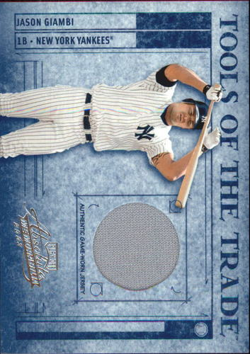 Photo of 2003 Absolute Memorabilia Tools of the Trade Materials #26 Jason Giambi Jsy/250