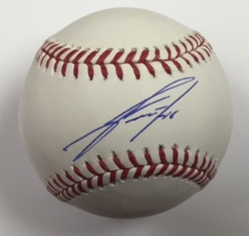 Photo of Jose Fernandez Autographed Baseball