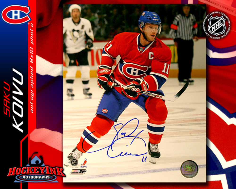 SAKU KOIVU Signed Montreal Canadiens 8 X 10 Photo - 70293