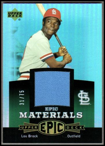 Photo of 2006 Upper Deck Epic Materials Green #LB2 Lou Brock Jsy/75