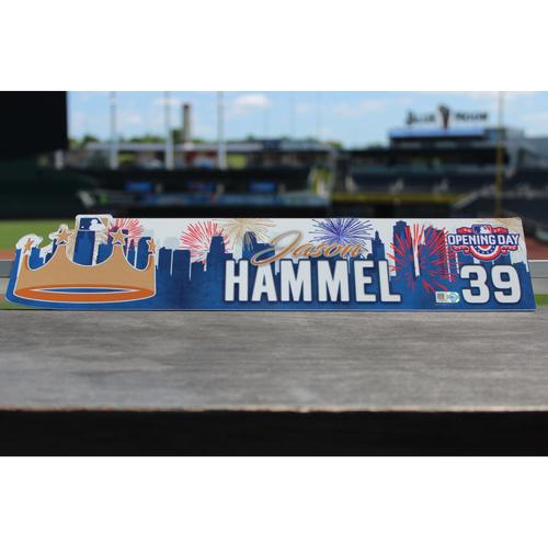 Photo of Jason Hammel Game-Used Opening Day Locker Name Plate (4/10/17 OAK @ KC)