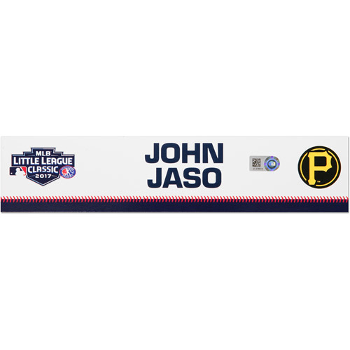 Photo of Pittsburgh Pirates Game-Used Locker Name Plate, John Jaso #28