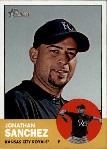 Photo of 2012 Topps Heritage #440 Jonathan Sanchez SP