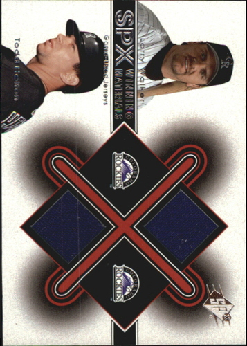 Photo of 2001 SPx Winning Materials Update Duos #LWTH Larry Walker/Todd Helton