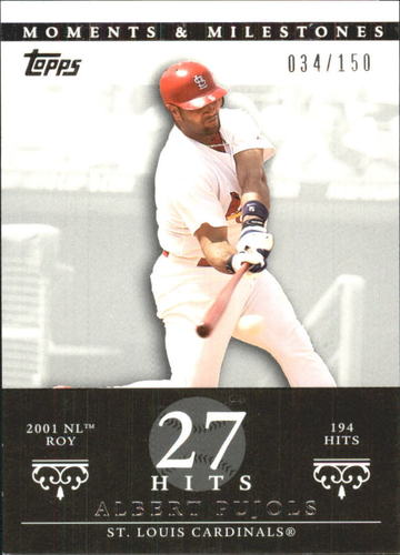 Photo of 2007 Topps Moments and Milestones #3-27 Albert Pujols/Hit 27