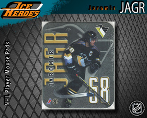 JAROMIR JAGR Pittsburgh Penguins Mouse pad - New in Plastic