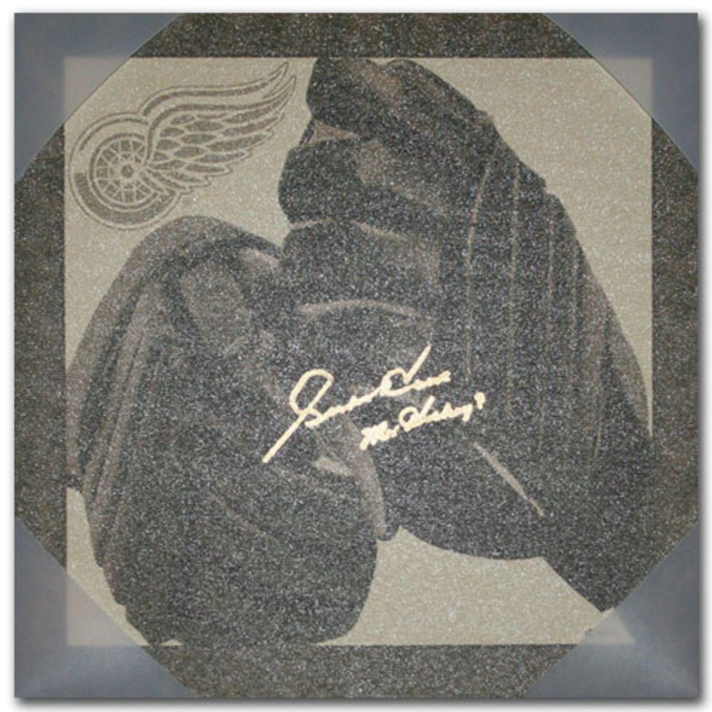 Gordie Howe Autographed Detroit Red Wings 14X14