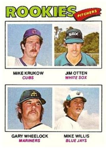 Photo of 1977 Topps #493 Rookie Pitchers/Mike Krukow RC/Jim Otten/Gary Wheelock RC/Mike Willis RC