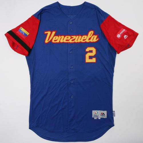 Photo of 2017 World Baseball Classic: Venezuela Game-Used Road Jersey, Gonzalez #5