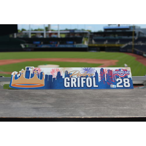 Photo of Pedro Grifol Game-Used Opening Day Locker Name Plate (4/10/17 OAK @ KC)