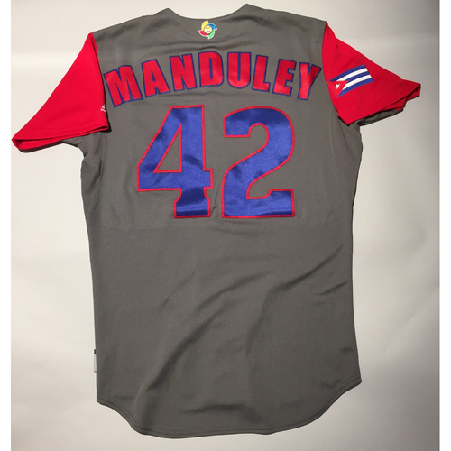Photo of 2017 WBC: Cuba Game-Used Road Jersey, Manduley #42